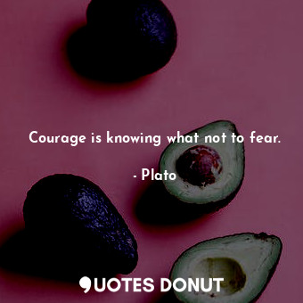 Courage is knowing what not to fear.... - Plato - Quotes Donut